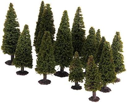 樹木 杉木 モデルツリー 鉄道模型 景観 箱庭 情景コレクションザ 建築模型 教育 写真 3サイズ
