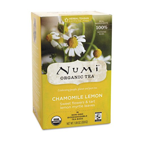 Numi Organic Tea Chamomile Lemon Herbal, 18 ct 18k Lemon