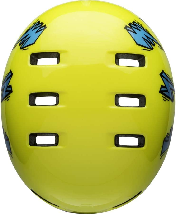 Amarillo y Azul BELL Lil Ripper Casco de Bicicleta para ni/ños Talla /única