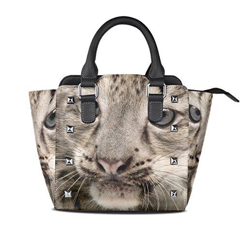 Leopard Femmes Sacs Snow Uncia Moyen poignée Bandoulière Sac Multicolore Pu Cuir Fourre Haut À Coosun En Main tout qgEpRq