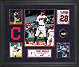 Corey Kluber Cleveland Indians Framed 5-Photo Collage with a Piece of Game-Used Baseball - MLB Player Plaques and Collages