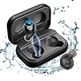 Wireless Earbuds Graphene Driver Speaker Deep Bass For Running Sports 66H TWS Earphone Single or Dual Use 24 Bit Hi-res Stereo Bluetooth 5.0 Headphone IPX7 Waterproof In-ear Headset Noise-Cancelling