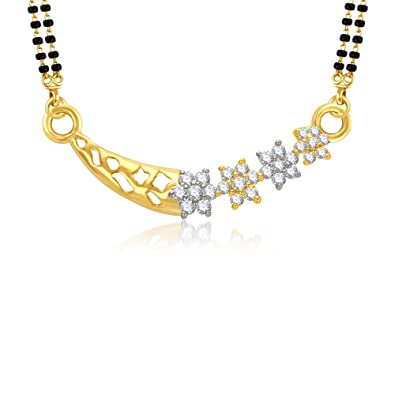 VK Jewels Royal Gold And Rhodium Plated Alloy Mangalsutra for Women