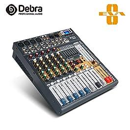 Debra Audio EVA series new update!!! 6/8/12 Channel Clean Sound Bluetooth Studio Mixer Audio – DJ Sound Controller…