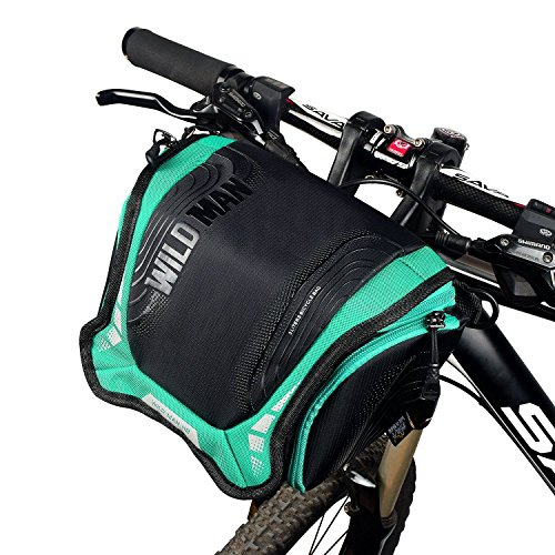 Cycling Bike Bags Front Handlebar Basket Frame Bag Waterproof Bicycle Pouch with (Removable Shoulder Strap+Rain Cover)