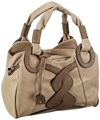 Rieker H1049-64 Handbag Women Beige Beige (lino 64) Size: 30x22x13 ...