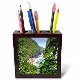 3dRose Danita Delimont - Rivers - Hawaii, Kauai, Napali, Napali Coast State Park, Pacific Ocean - 5 inch tile pen holder (ph_278936_1)
