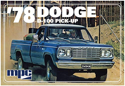 MPC901 1978 Dodge Pickup Truck Model Car Kit with Minibike (Dodge Model Kits Trucks)
