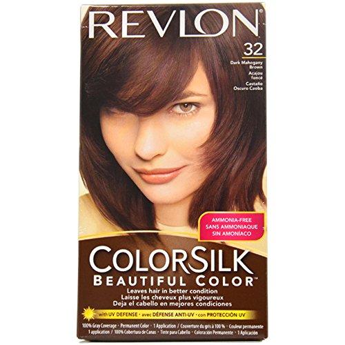 Revlon Colorsilk Beautiful Color, Dark Mahogany Brown 32