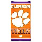 NCAA Clemson Tigers Fiber Beach Towel, 30 x 60-Inch
