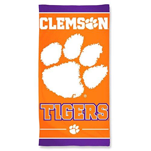 NCAA Clemson Tigers Fiber Beach Towel, 30 x 60-Inch by WinCraft