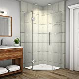 Aston SEN991-SS-34-10 Neoscape GS Completely Frameless Neo-Angle Shower Enclosure with Glass Shelves, 34