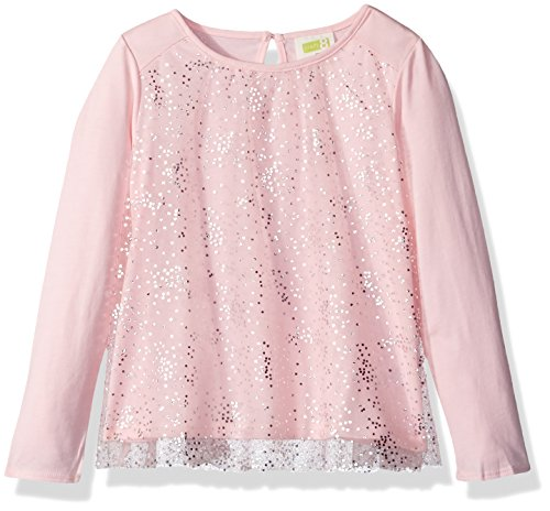 Crazy 8 Toddler Girls' Long Sleeve Tulle Tee, Rose Shadow, 5T