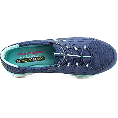 Skechers Sport GRATIS Bungee pour femme Mode Sneaker Full Circle/Navy/Green