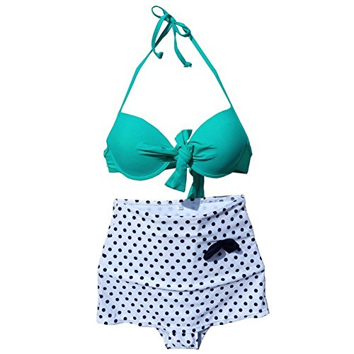 Bikini Swimsuit for Women Bright Color Dot Bikini Suits
