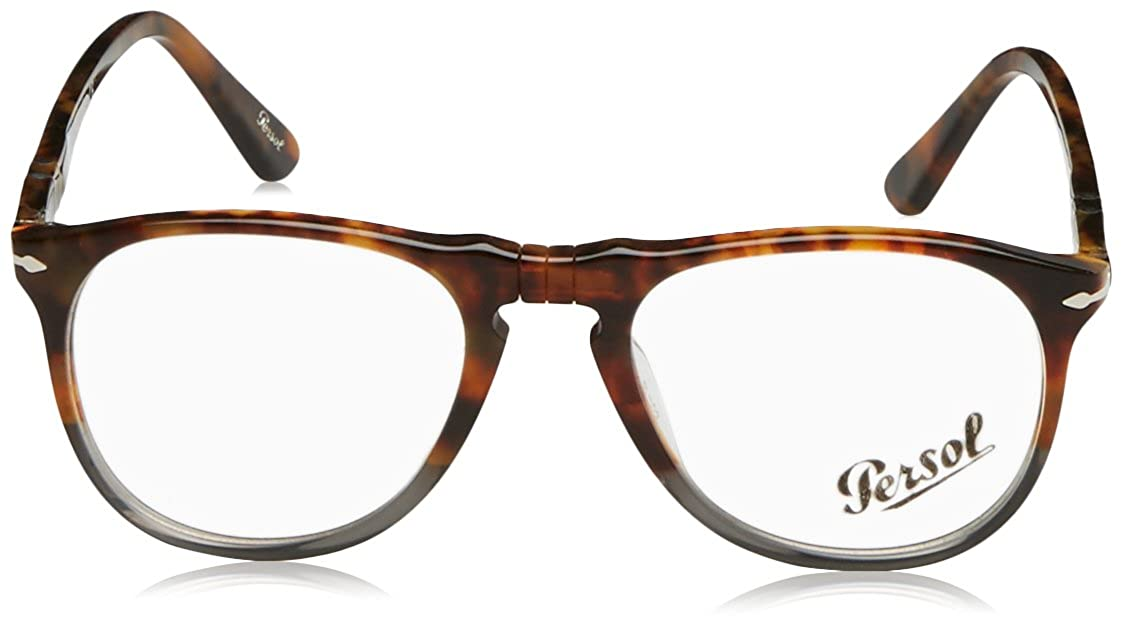 c9cf7bba80 Eyeglasses Persol PO 9649V 1023 FUOCO E ARDESIA at Amazon Men s Clothing  store