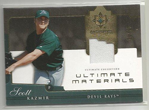 2005 Ultimate Collection Baseball Scott Kazmir Ultimate Materials Jersey Card # 19/25