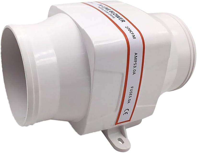 MagiDeal Soplador de Aire de Sentina 24V 270 CFM Pieza de Reemplazo para Barco RV