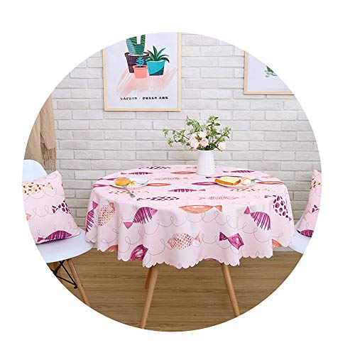 COOCOl Waterproof Printed Tablecloth Round Table Cover Tea Table Cloth Rural Rectangular Cover Cloth,06,90X150Cm -