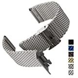 Geckota Stainless Steel Watch Band Milanese Mesh