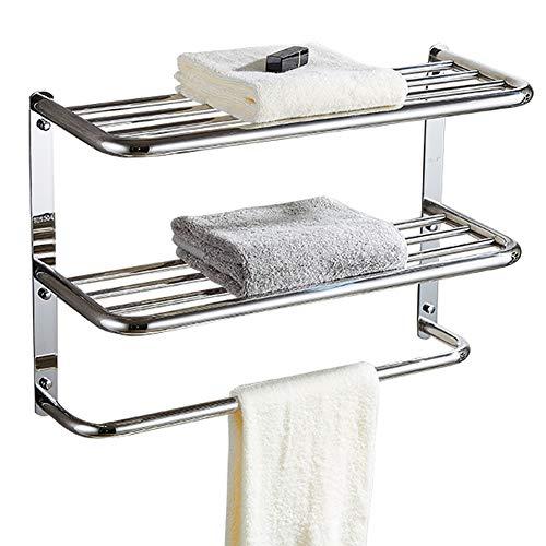 (kaileyouxiangongsi 24 inch Shelf Towel Rack Stainless Steel (two-tier))