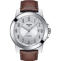 Tissot  Men's Gentleman Swissmatic - T0984071603200 Silver/Brown One Size