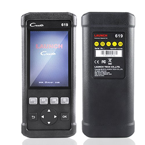 Launch CR619 Car Diagnostic Tool OBDII Code Reader ABS SRS Check Engine/O2 Sensor Test/On-board Monitor Test Quick Clear DTCs/Query Freeze Frame Data/Read Dynamic Datastream by Launch (Image #1)