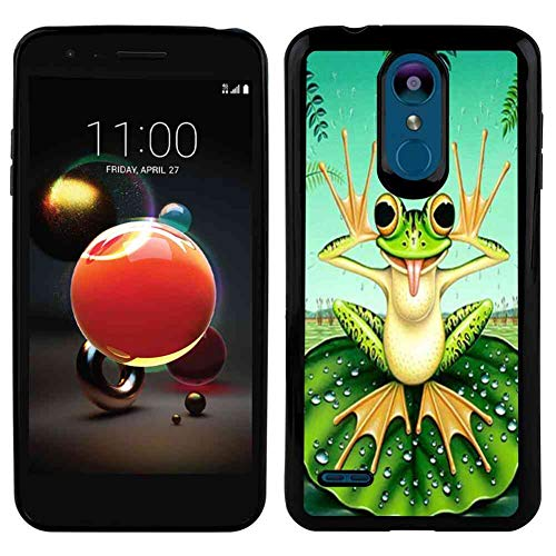 Cute Frog Soft Phone Case Fits for LG K8 (2018) (5-Inch)