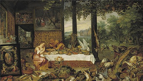 (The Polyster Canvas Of Oil Painting 'Rubens Peter Paul Brueghel The Elder Jan Taste 1618 ' ,size: 10 X 17 Inch / 25 X 44 Cm ,this High Quality Art)