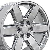 20x8.5 Wheel Fits GM Trucks & SUVs - GMC Yukon Style Chrome Rim, Hollander 5420