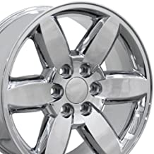 20x8.5 Wheel Fits GM Trucks & SUVs - GMC Yukon Style Chrome Rim, Hollander 5420