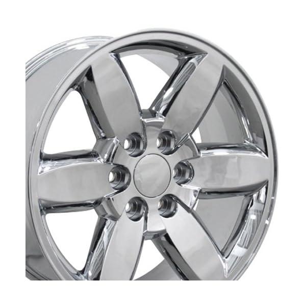 OE-Wheels-20-Inch-Fits-Chevy-Silverado-Tahoe-GMC-Sierra-Yukon-Cadillac-Escalade-CV94-Chrome-20×85-Rim-Hollander-5420