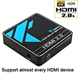 HDMI Splitter 2.0, Takya HDMI Splitter 4K 1IN 2 OUT for Dual Monitor/HDTV/PS4, Resolution up to Full HD 1080P, 4Kx 2K (3840 x 2160)&3D