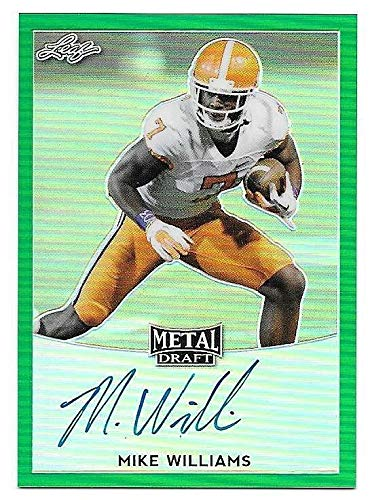 sports shoes 5b6d5 bbf0c Amazon.com: 2017 Leaf Metal Draft Pris Green Mike Williams ...