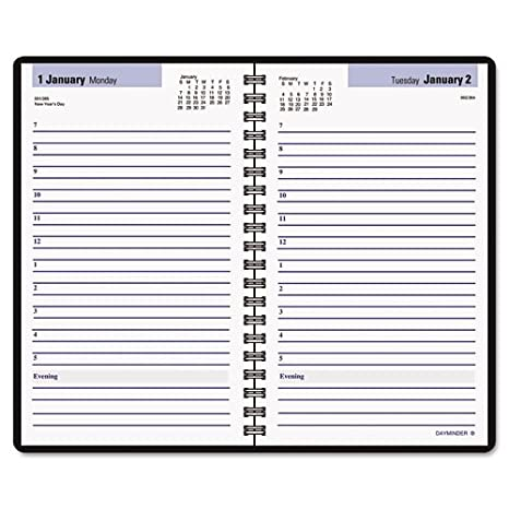 amazon com dayminder sk4400 daily appointment book 4 7 8 x 8