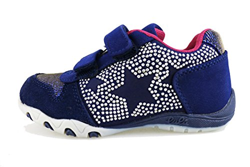 LULU' 28 EU Sneakers Mädchen Blau Wildleder Textile Strass AG654