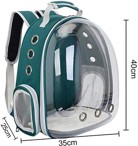 JZCXXJ Cat Bag Breathable Portable Pet Carrier Bag Outdoor Travel Backpack for Cat and Dog Transparent Space Pet Backpack: Amazon.es: Productos para mascotas