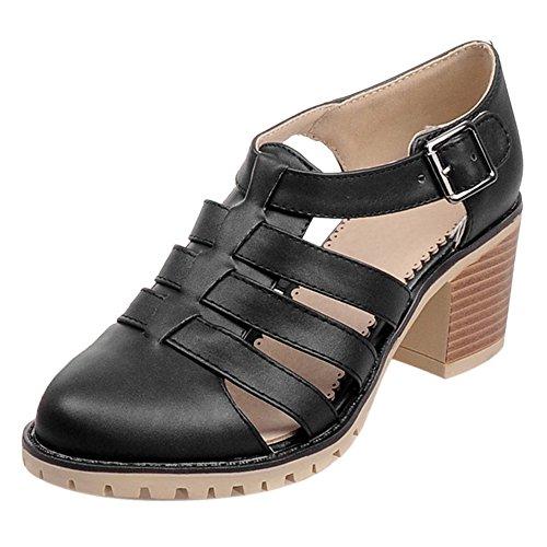 Femmes Creux Femmes JOJONUNU Creux Sandales Black Sandales JOJONUNU wwCf5qx1gz