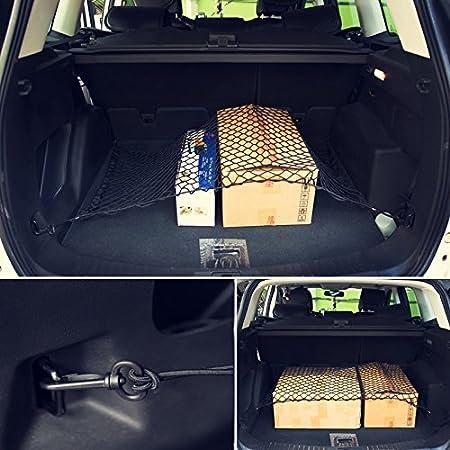DEDC Filet /à Bagages Elastique pour Coffre de Rangement en Nylon Noir
