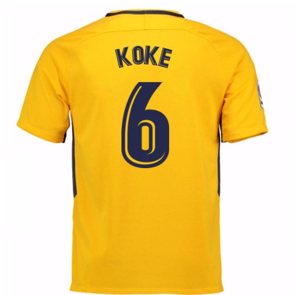 2017-18 Atletico Madrid Away Football Soccer T-Shirt Trikot (Koke 6) - Kids