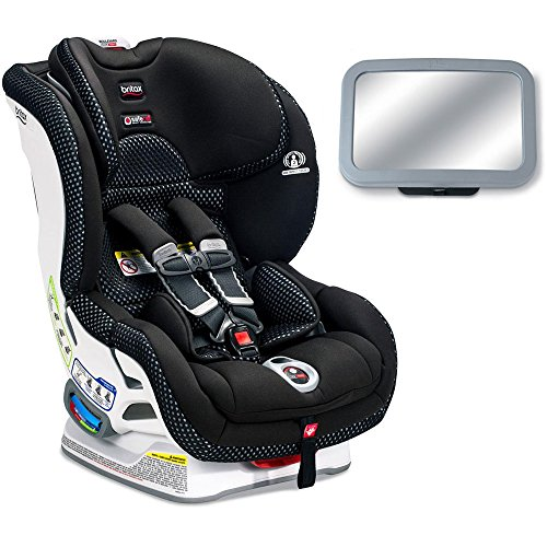 Britax Boulevard ClickTight Cool Flow Collection Convertible Car Seat with Back Seat Mirror - Gray (Boulevard Collection Mirror)