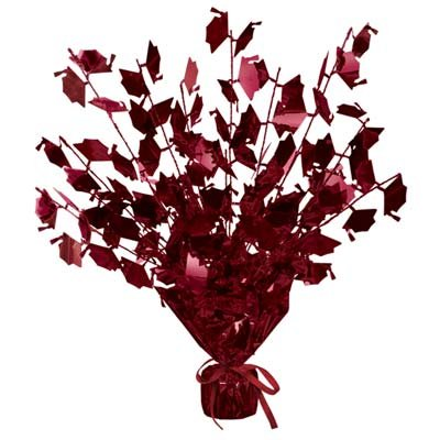 Graduation Cap Gleam 'N Burst Centerpiece (Maroon) Party Accessory (1/pkg) Pkg/3 -