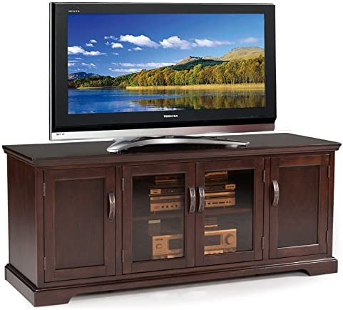 Leick Furniture Chocolate Cherry and Bronze Glass 60 W TV Stand