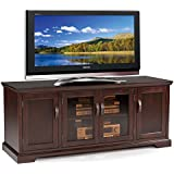 Leick Furniture 60 TV Stand w/ Bronze Tinted Glass, Chocolate Cherry