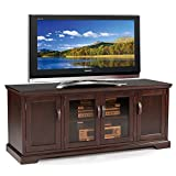 "Leick Furniture 60"" TV Stand w/ Bronze Tinted Glass, Chocolate Cherry"