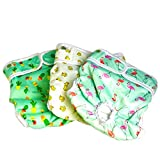 Luxury Reusable Dog Diapers (3-Pack) - Medium [NEW Pattern] Durable Dog Wraps Nappies for Both Male and Female Dogs, Cats, Rabbits and Other Small Animals by Pet Magasin (Trending, Medium)