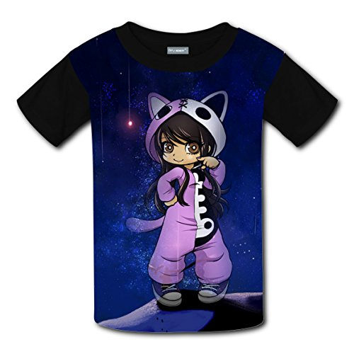 Game Cute Girl Kids 3D Graphic Printed Short Sleeve Tee T shirts Boys Girls Tops M