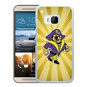 NCAA Carolina Pirates 15 White Hard Shell Phone Case For HTC ONE M9