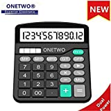 Calculator,Multi Function 12 Standard BasicFinancial Office Desktop Calculator,ONETWO Counter Applicable to All Base Chu