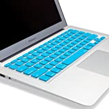"Kuzy - AIR-11inch AQUA BLUE Keyboard Cover Silicone Skin for MacBook Air 11.6"" Models: A1370 and A1465 - (USA KEYBOARD VERSION) - Aqua Blue"
